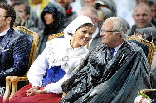 スウェーデン王と女王のオリンピック応援08