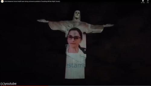 ブラジルのキリスト像が白衣姿に01