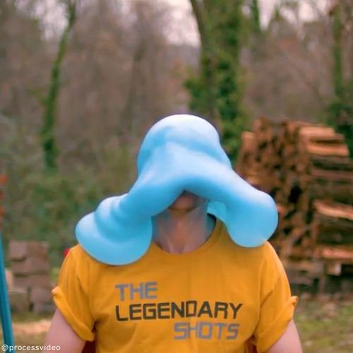 水風船が帽子みたいに06