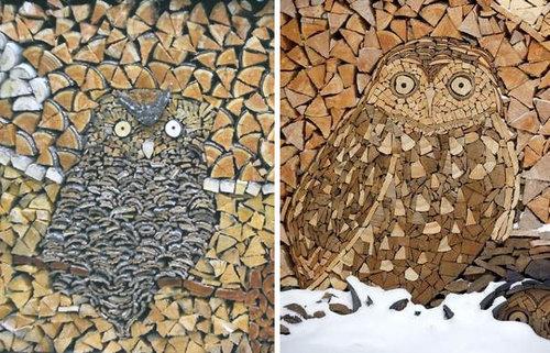 木材積みアート02