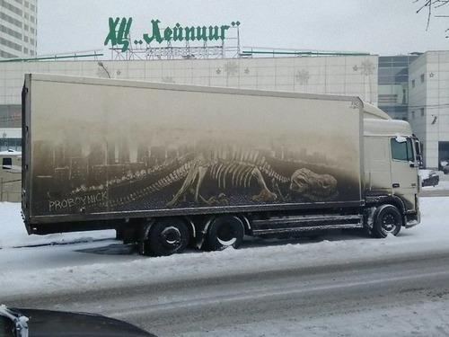 汚れたトラックアート00