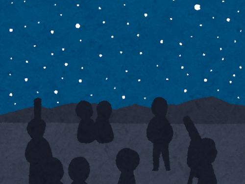 「三日月と、木星と、その4つの衛星が並んで見えるとき…」