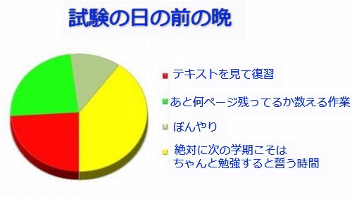 学生生活の円グラフ11