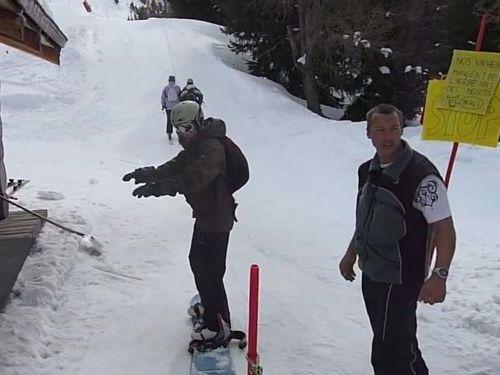 スノーボードで初めてのスキーリフトに挑戦01