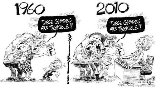 1960年の先生と2010年の先生01