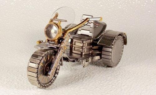 時計で作ったバイク05