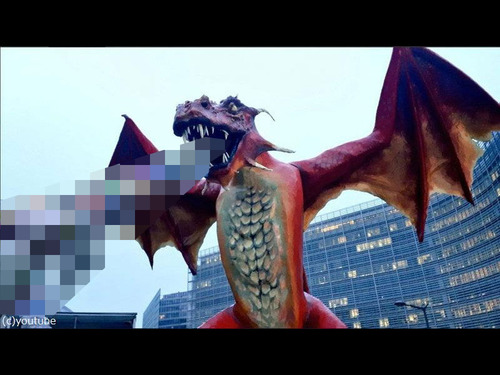 ブリュッセルにドラゴン像00