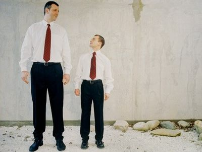背の高い人、背の低い人