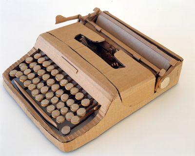 ダンボールアート-11タイプライター