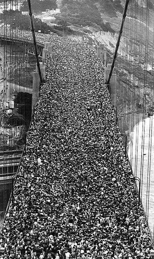 1937年にゴールデン・ゲート・ブリッジ01
