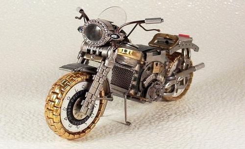 時計で作ったバイク03