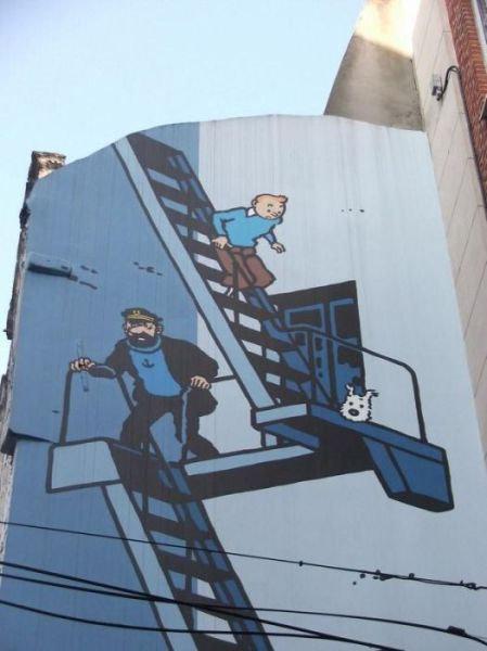 ベルギー・ブリュッセルに描かれたコミックス・グラフィティ25