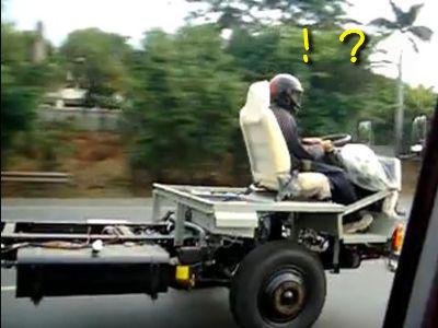 裸のトラック