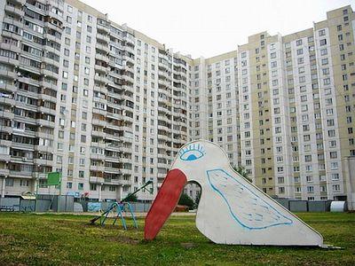 ロシアの公園の遊具20