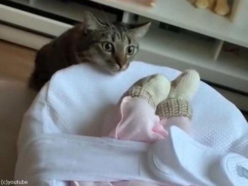 赤ちゃんと初対面00