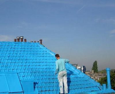 真っ青に染めてしまったロッテルダムの建物04