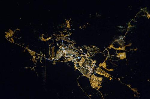 ISSから見た夜景10