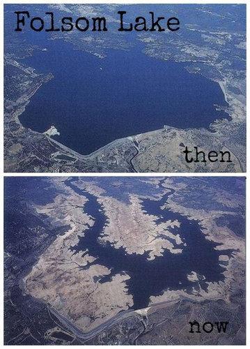 干ばつで変わり果てたフォルサム湖04