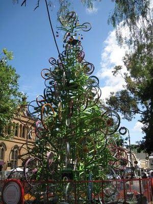 自転車クリスマスツリー04