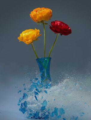 生け花と花瓶─破壊の美学16