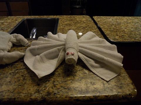 ホテルのタオルで折り紙10
