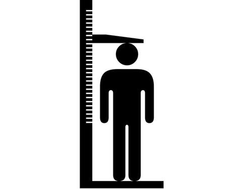 自転車売り場の身長計測表00