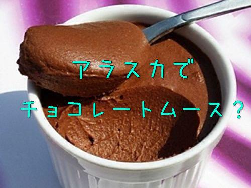 アラスカでチョコレートムースを注文00