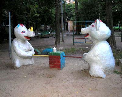 ロシアの公園の遊具01