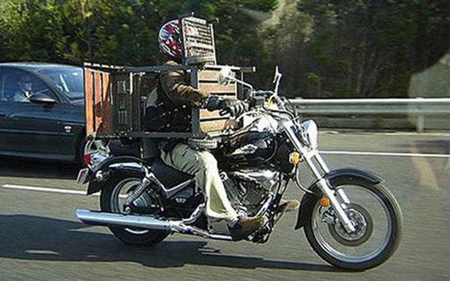 バイクで物を運ぶ限界06