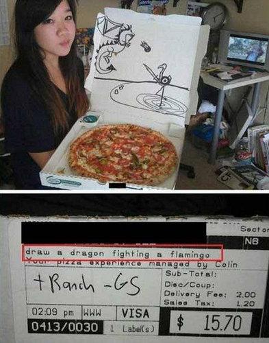 ピザのデリバリーの絵05