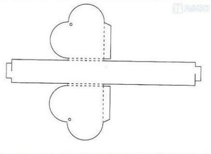 ギフトボックスの展開図04