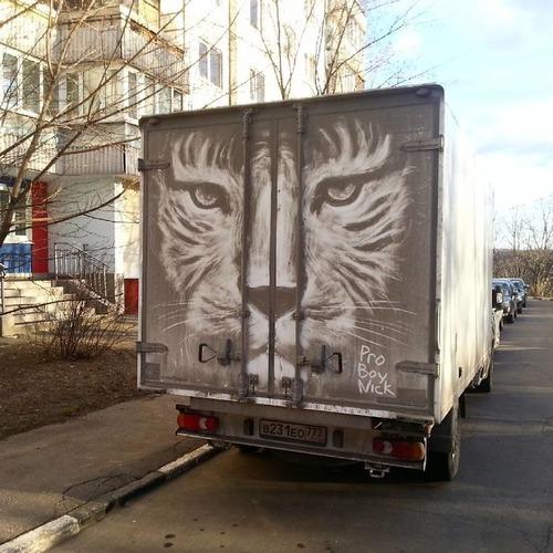 汚れたトラックアート03