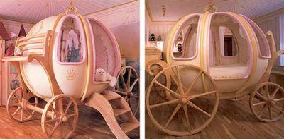 シンデレラのかぼちゃの馬車ベッド