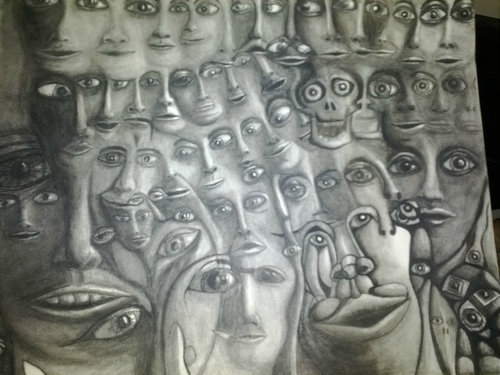 統合失調症の囚人が描いた絵02