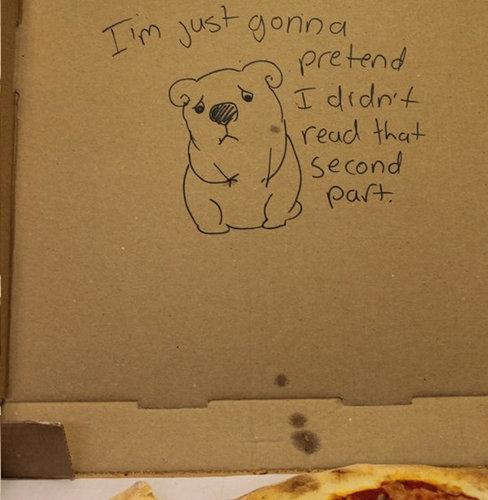 ピザのデリバリーの絵12