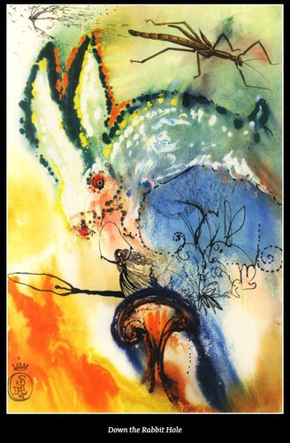ダリが描いた不思議の国のアリス01