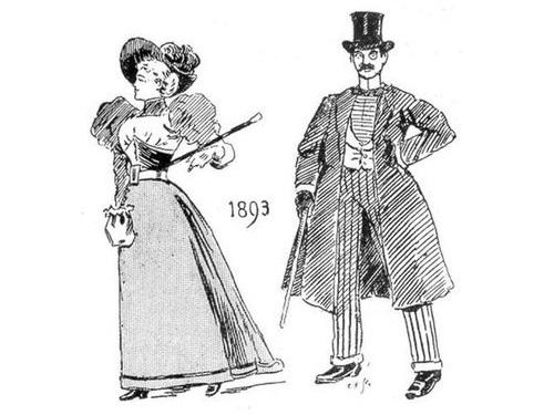 19世紀に想像した20世紀のファッション00