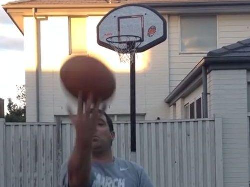 お父さんがバスケで人生最高のシュート01