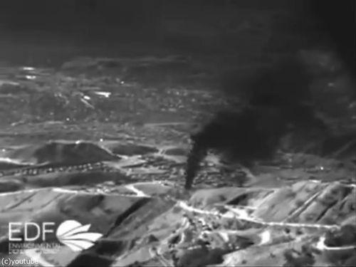 南カリフォルニアで大量のガス漏れ00