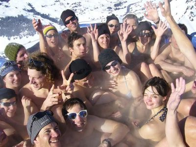 雪山の頂でお風呂00