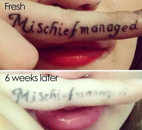 タトゥーの劣化18