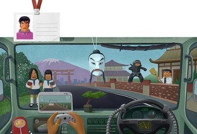 車の運転席から見る世界各国のイメージ04