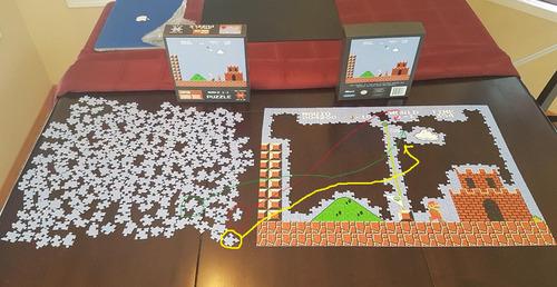 スーパーマリオのジグソーパズルを途中で挫折04