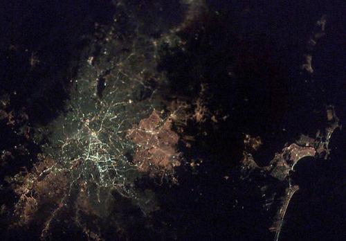 ISSから見た夜景28