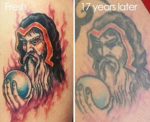 タトゥーの劣化10