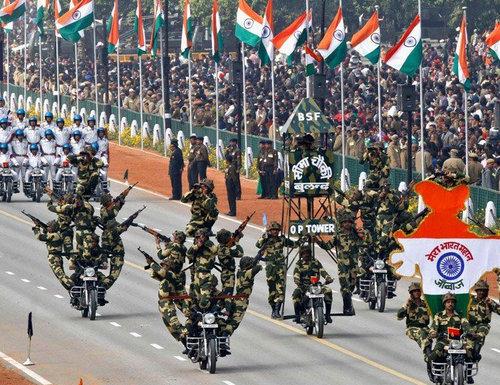 インドの軍事パレード07