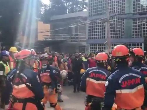 メキシコで日本の救助隊が派遣01