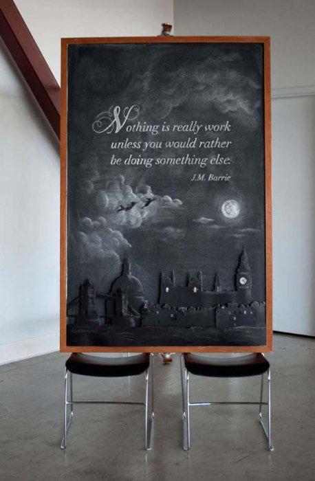 美大生の黒板の落書き01