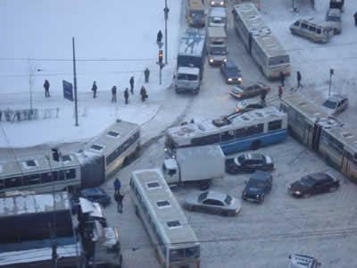 世界各国の渋滞-モスクワ2