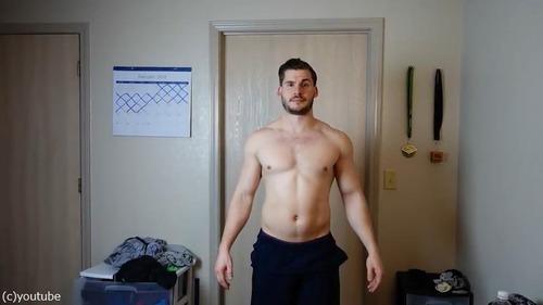 男性の3か月のダイエット動画04